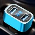 Бренд HSC автомобильное зарядное устройство 3.1A 2 порта Dual USB автомобильное зарядное устройство Адаптер Прикуривателя Splitter, использовать для iPhone для android телефонов