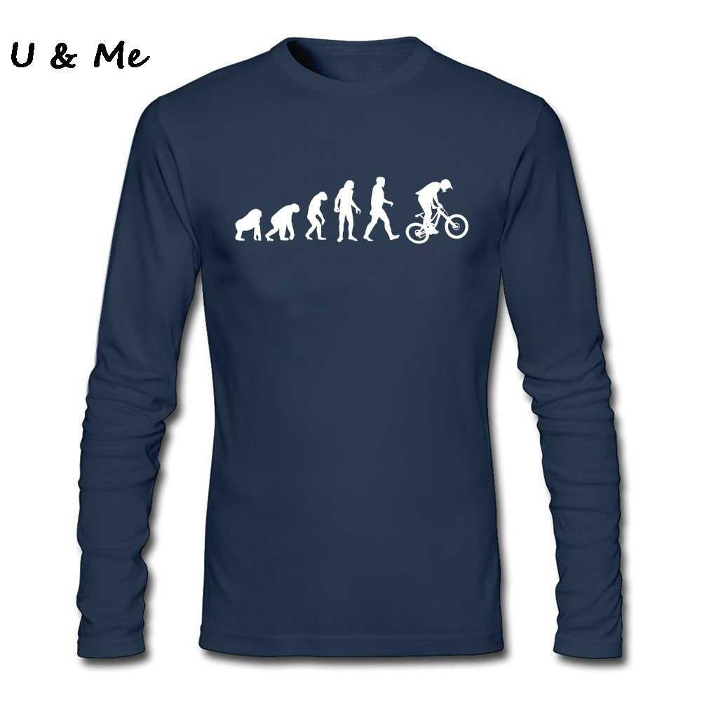 ヴィンテージスタイルマウンテンバイカー Mtb ヴィンテージ Tシャツメンズ長袖の衣装進化ダウンヒル Tシャツ