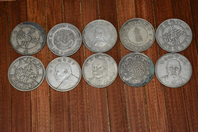 Rare old Chinese Qing Dynasty silver coin,10 piece/pack,free shipping