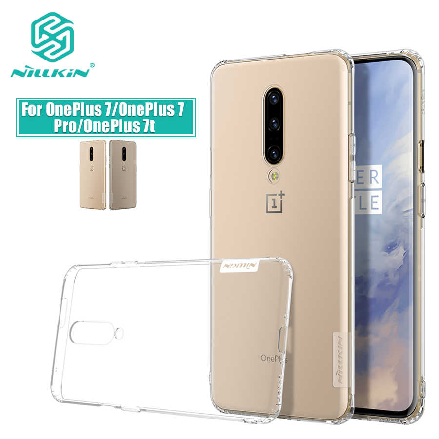 OnePlus 7 Case Nillkin Nature Transparent Clear Soft silicon TPU Protector  cover For OnePlus 7t Case OnePlus 7 Pro one plus 7