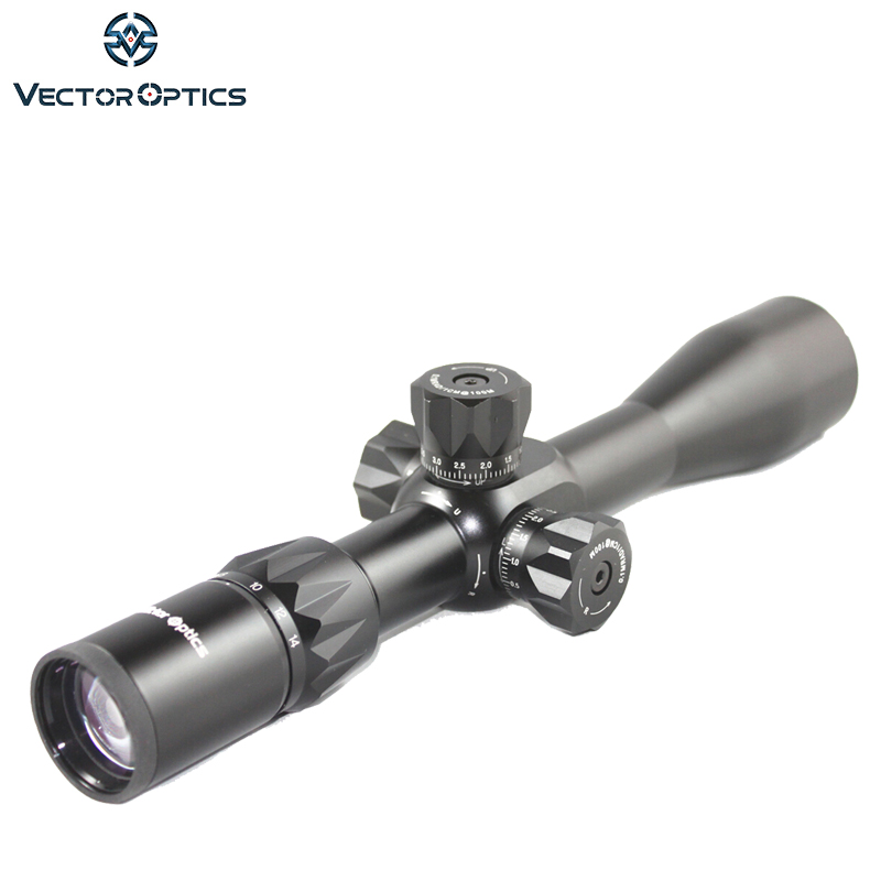 Vector Optics Capricorn 4.5-14x44 First Focal Plane Hunting Rifle Scope with Mount & Sunshade High Quality fit .308 .30-06 vector optics 8 32x56 tactical first focal plane rifle scope w free one piece mount ring