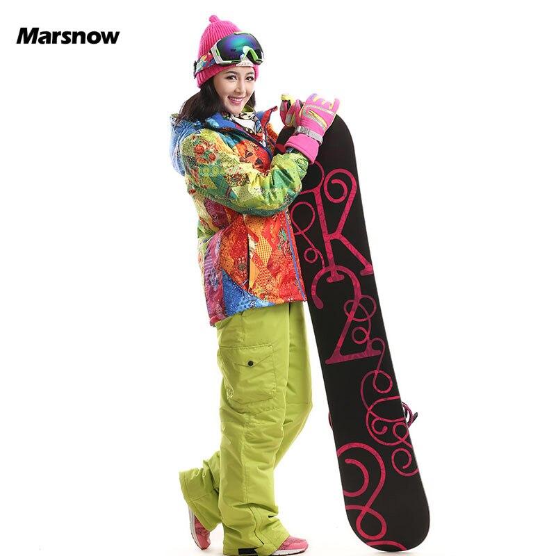 -30 degrés Marsnow haute qualité hiver sports de plein air femmes Ski costumes ensemble Snowboard costume ensemble dames chaud à capuche femme Ski costume