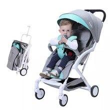 Купить с кэшбэком 5.8kg Lightweight Baby Stroller High Landscape Trolley Newborns Children Pushchair Foldable Portable Luxury Stroller Kinderwagen