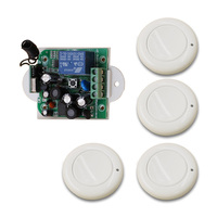 85V 110V 220V 250V 1CH RF Multi function Wide Voltage Learning Type Wireless Remote Control Switch and 4pcs Transmitter 315/433