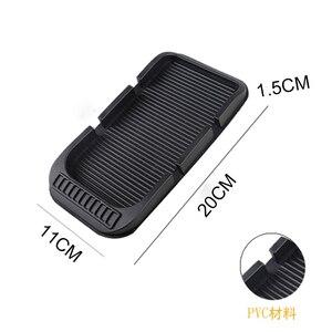 Image 3 - Противоскользящий коврик для приборной панели автомобиля с номером мобильного телефона, силикагелевый автомобильный нескользящий коврик для бумажных полотенец, GPS телефона, автомобильные аксессуары