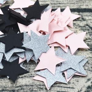 Image 5 - 100 Pcs Kleurrijke Glitter Stervorm Tafel Confetti Verjaardag Bruiloft Decor Kartonnen Confetti Kids Baby Shower Feestartikelen