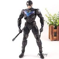 Play Arts Kai Batman Arkham Knight No.6 Nightwing PVC DC Comics Toys Collection Model Boys Toys 25cm
