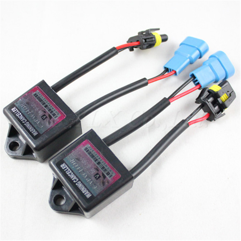 2pcs C6 Xenon HID Kit Error Warning Canceller H1 H3 H4 H7 H8 H9 H10 H11 H13 9004 9005 9006 Canbus Capacitors Computer Decoder c3 5 can bus hid warning canceller capacitor decoder black 2 piece