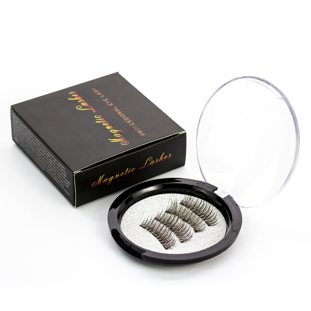 Shozy Magnetic eyelashes with 3 magnets handmade 3D magnetic lashes natural false eyelashes magnet lashes with gift box-24P-3 1
