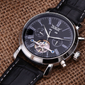 Jaragar Tourbillon Automatic Watch luxury mechanical brand watch leather strap AUTO Flywheel Mens Wristwatch relogio