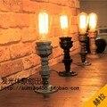 Edison Lâmpada Do Vintage Lâmpada Lâmpadas de Mesa Tubulação de Água Personalizado Luzes Da Tabela Mesa Livro Lâmpada E27 60 W 110 V-240 V Iluminação Do Sotão Do Vintage