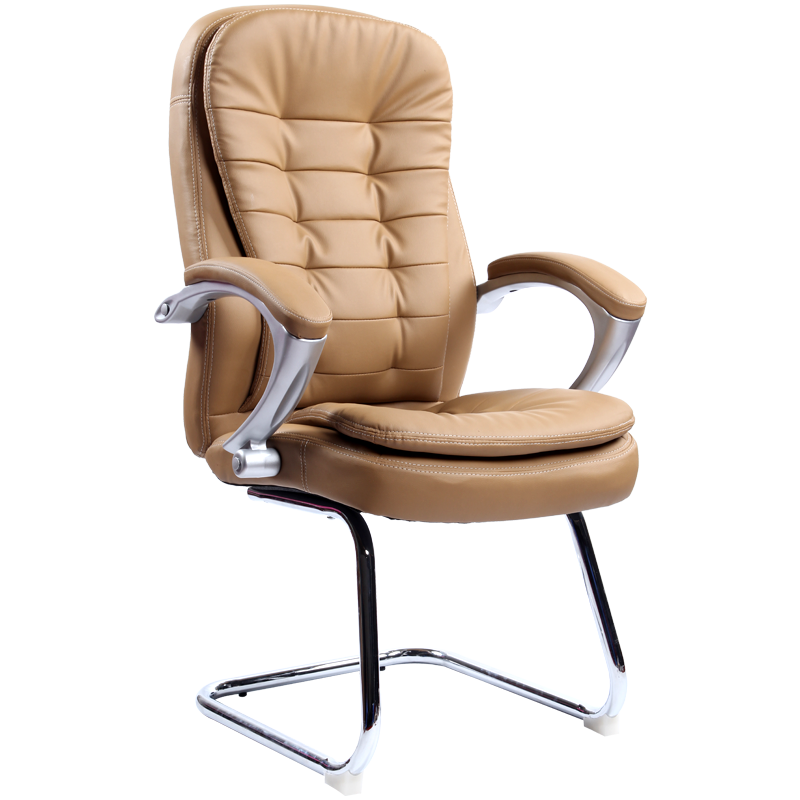 Bow Computer Chair PU Boss Office Chair Reclining Household Study Room Chair Modern Simple With Backrest Stable Thicken Cushion