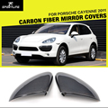 Car-Styling Carbon Fiber Replacement Side Mirror Cover Caps for Porsche Cayenne 958 2011