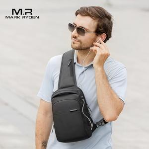 Image 2 - Mark Ryden New Multifunction Crossbody Bag Waterproof Men Sling Chest Bag Fit 9.7 inch Ipad Fashion Shoulder Bag