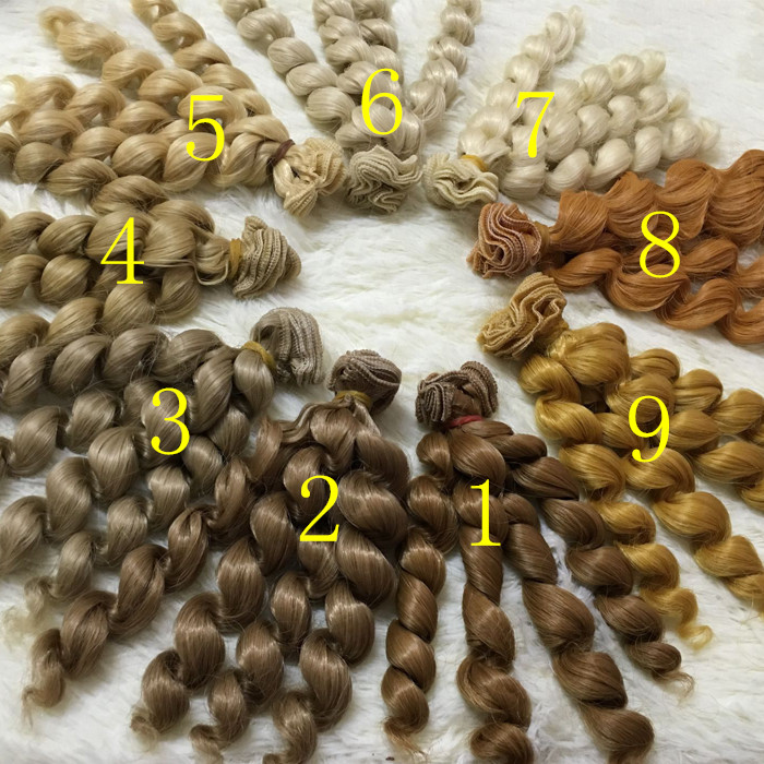 O for U 5/10 Pcs/lot O for U Noodle Curly Doll Wigs for 1/3 1/4 1/6 BJD SD DIY High-temperature Silk Dolls Handmade Wig Hair 1 8 bjd sd doll wigs for lati dolls 15cm high temperature wire long curly synthetic hair for dolls accessorries high quality wig