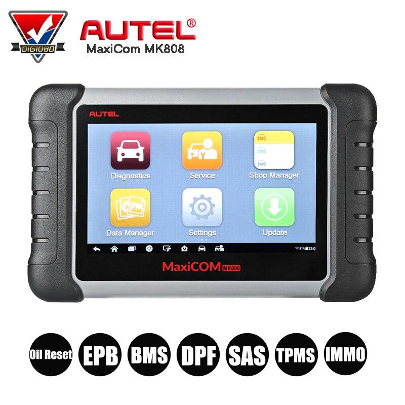 Autel MaxiCOM MK808 Car Diagnostic Scan Tool Automotive All System OBD2 OBD Scanner Oil Reset/EPB/BMS/SAS/DPF/TPMS/ABS Bleeding все цены
