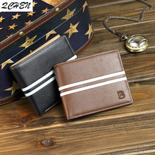 Men's Wallet Fashion B Mens Wallet with Coin Bag Zipper Small Money Purses New Design Dollar Slim Purse Money Clip Wallets 509