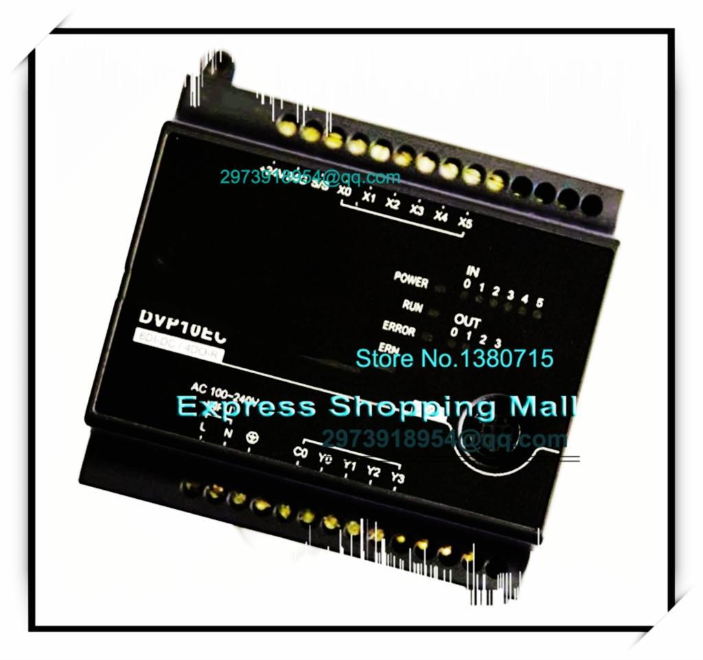 ФОТО New Original DVP10EC00R3 Delta PLC EC3 series 100-240VAC 6DI 4DO Relay output