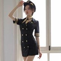 2019 summer women sexy cosplay costume policewomen role play uniform stylish party dance performance uniform suit fancy dress