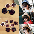 Retail Children's sunglasses 2016 Baby sunglasses Child shading mirror boy girl glasses 3 to 7 years old kids Cool sun glasses