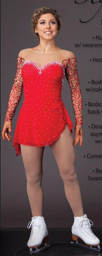 σχήμα πατινάζ φόρεμα κρασί κόκκινο - Αθλητικά είδη και αξεσουάρ - Φωτογραφία 1