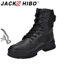 JACKSHIBO Men Winter Motorcycle Safety Work Boots Protective Steel Toe Safety Shoes Anti-smashing Indestructible Work Shoes Boot safety shoes steel toe sole for men anti smashing work boots work safety protective shoes men shoes