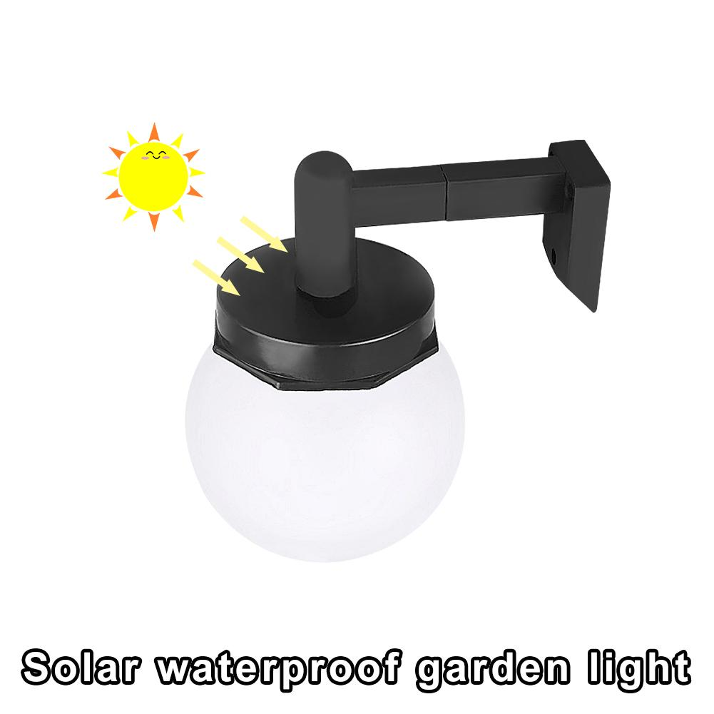 Outdoor LED Wall Light Solar Waterproof Garden Light  For Garden Patio Driveway Yard Fence Stairs Garden Decoration Bulb