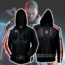 Movie MASS EFFECT Sweatshirts Hoodie Cosplay Costume Jackets Zipper Hoded