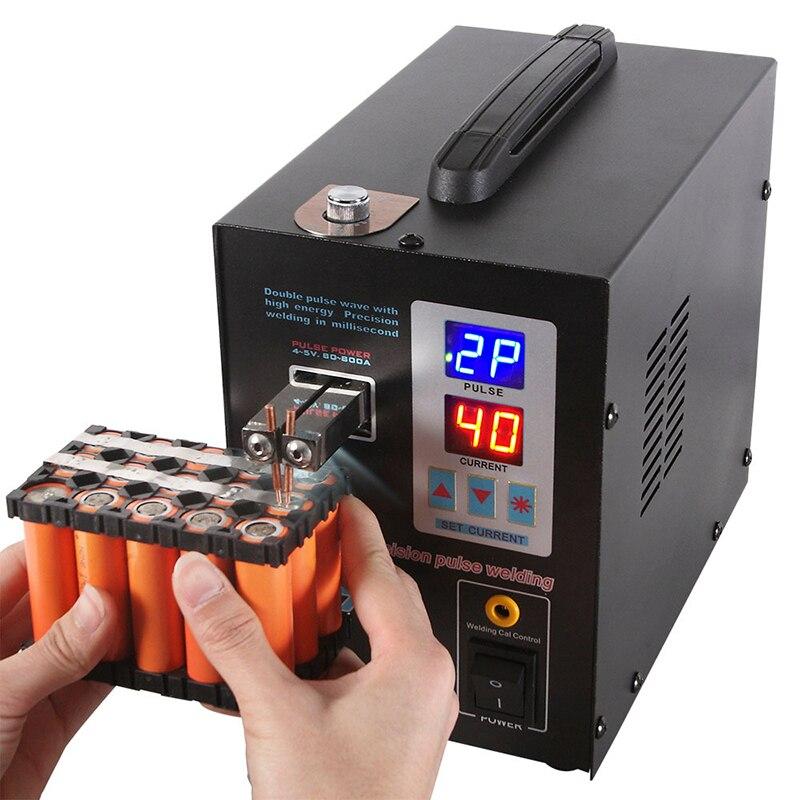 SUNKKO 737g posto della batteria saldatore 1.5kw precisione pulse spot saldatore ha condotto la luce di saldatura macchina utilizzata 18650 battery pack spot saldatori