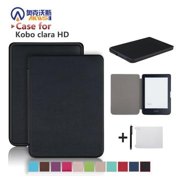 Тонкий чехол для электронной книги Kobo Clear HD 6 дюймов N249, умный защитный чехол, чехол из искусственной кожи с функцией автоматического сна/пробуждения