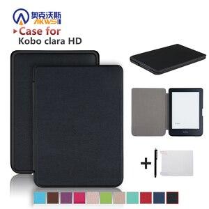 Slim Case for Kobo Clara HD 6 Inch Ebook Smart Cover Ereader Skin Shell for kobo clara HD EREADER(China)