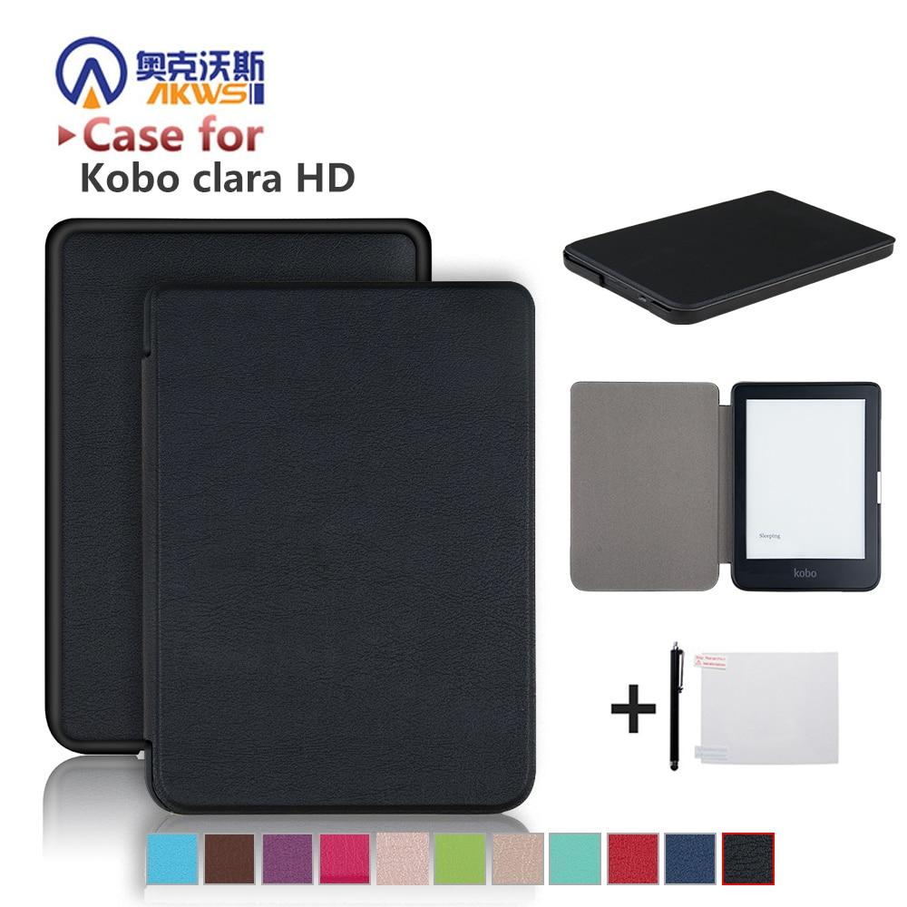 Slim Case For New Kobo Clara HD 6 Inch Ebook Smart Cover Ereader Skin Shell + Protector Film + Stylus