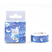 2cm*5m Beautiful starry sky washi tape DIY decoration scrapbooking planner masking tape adhesive tape label sticker
