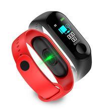 スマート腕時計カラー画面防水フィットネストラッカー心拍数血圧モニター活動アンドロイド & Ios 用 2 色