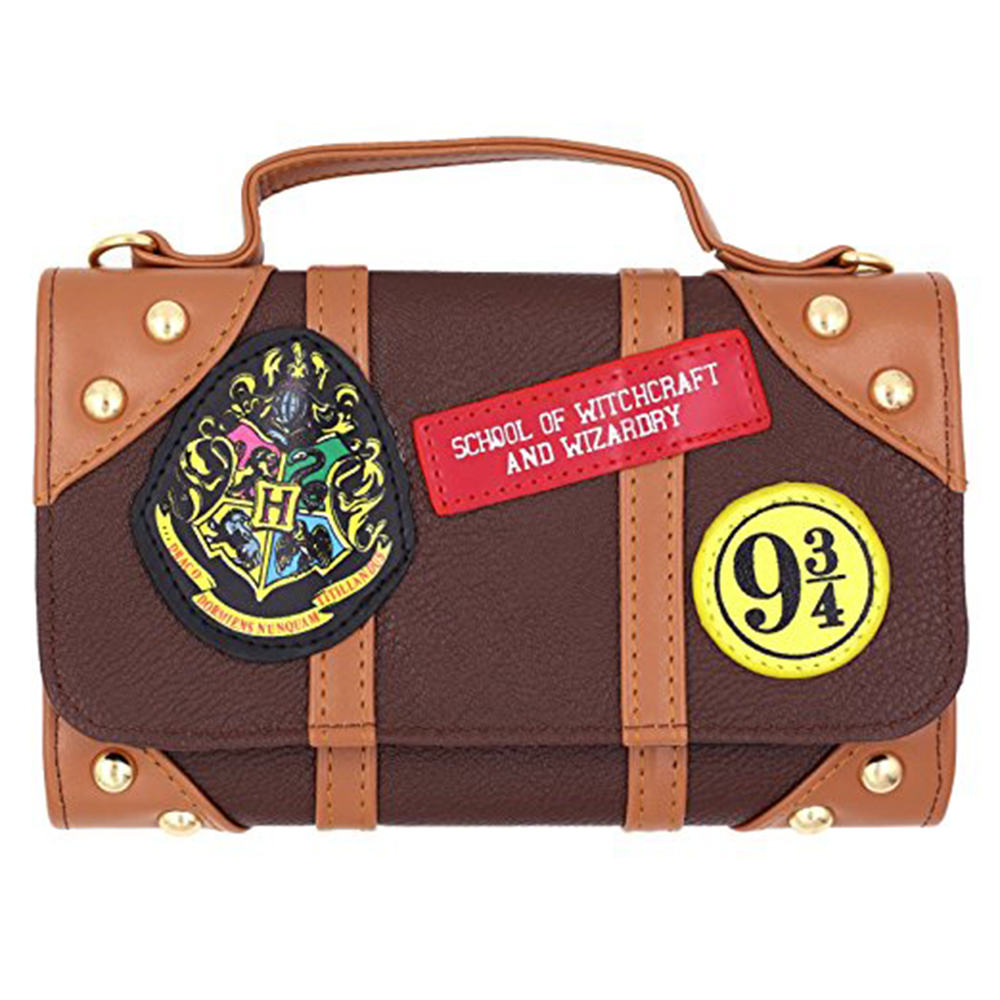 Offical Harri Potter Shoulder Bag Chain Mini Bag Castle Crest Envelope  Satchel Fold long Wallet Purse dddcd77f38ec1