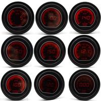 2 52mm Car Boost Water Temp Oil Temp Oil Press Volt Tachometer Vacuum Air Fuel Ratio