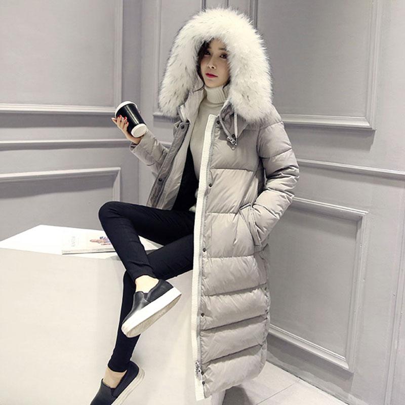 OLGITUM 2018 Winter Coat Women s Slim Long Parka Jackets Coats Overcoat Winter  Jacket Women Thick Down Parkas Plus Size CC036-in Parkas from Women s ... 3b7fb6449