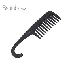 Brainbow hair comb with hanger quality abs plastic anti static large wide tooth comb detangling wide.jpg 250x250