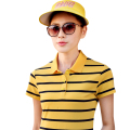 2017 New women's Polo Shirts Short Sleeve Summer all-match Fashion Female Women Polo Shirt Brand Striped Slim Plus Size Polos