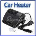 One Piece Portable 12V Auto Car Vehicle Heater Heating Fan Defroster For Window Screen Demister Hot Warm Air Conditioner Black