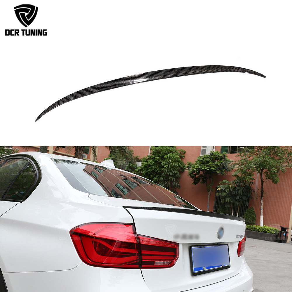 M3 Style spoiler For BMW F30 Carbon Spoiler 320i 328i 335i 326d F80 M3 2013 2014 2015 2016+ F30 Sedan Carbon Fiber Wing Spoiler replacement style for bmw 3 series 2013 2014 2015 2016 up 320i 328i 330i 335i 320 f30 carbon fiber side mirror cover