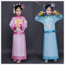 De los niños chino traje niños princesa Dinastía Qing costme muchacha Ming  ropa vestido película Cosplay Etapa 18 5f42723b37a