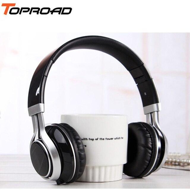 TOPROAD Filaire Mobile Téléphone Casque Stéréo Pliable Casque Écouteur 3.5 MM Écouteurs Tête Téléphone pour iPhone MP3 Jeu Ordinateur
