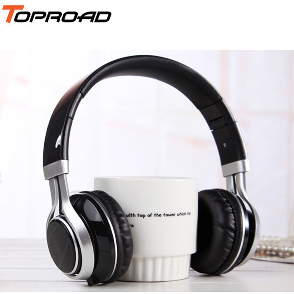 TOPROAD Wired Mobile Phone Headphone Stereo Foldable Headset Earphone 3.5MM Earphones Head Phone for iPhone MP3 Game Computer