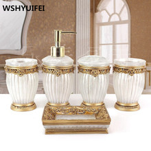 Bathroom accessories Natural resin soap dish toothbrush holder gargle cup lotion bottles home decor wedding supplies ceramic peacock toothbrush holder soap dish bathroom accessories set kit cup wedding gifts crafts home decor porcelain figurines