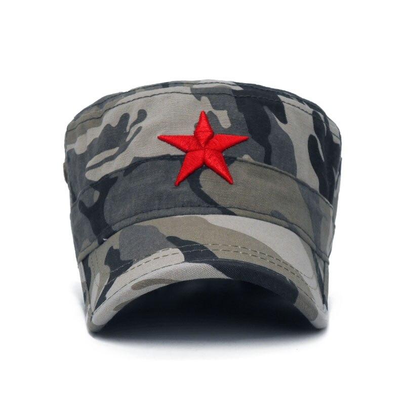 770eb748fbda1 Aliexpress.com  Comprar Gorra militar de moda de estrella roja bordada  sombreros planos gorra militar al aire libre sol Casual deportes tácticos  gorras ...