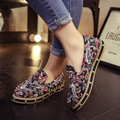 Hot Sale New Women Flat Shoes 2016 Super Star Fashion Summer Rivets Round Toe Printed Doug Shoes Casual Moccasins
