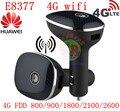 Desbloqueado Hilink CPE 4 G Router para Huawei CarFi E8377 LTE Router wi fi Hotspot 4 G LTE Cat5 12 V carro fdd pk de banda e8278 e8372