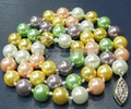 1283 ew 8mm Multicolor south sea shell pearl necklace 18""