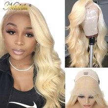 Nadula Haar 13x 4/6 Honing Blonde Lace Front Pruik 150% Dichtheid Braziliaanse Body Wave Kant Pruik 613 Lace Front Human haar Pruik Voor Vrouwen